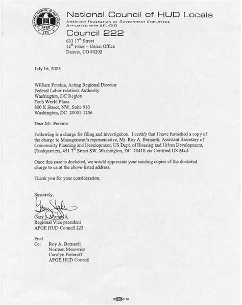 Demand Letter Unfair Business Practices Hud Afge Council 222 Unfair Labor Practice