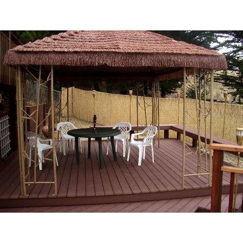 Tiki Hut Canopy lowe s garden treasures gazebo 225173 garden winds