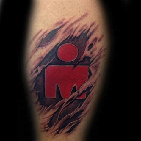 ironman mdot 3d skin rip 80 ironman tattoo designs for men triathlon ink ideas