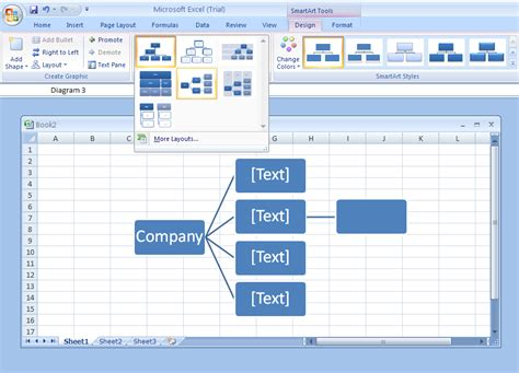 change layout of excel table change the layout to an organization chart organization