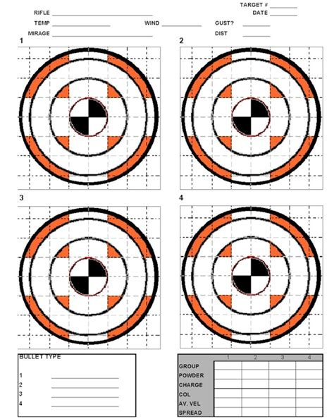 free printable tactical targets printable targets targets pinterest