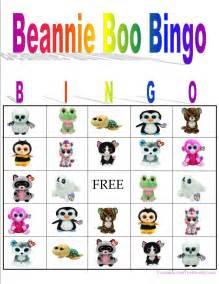 beanie boo bingo instant download partyliciousdesign6 etsy