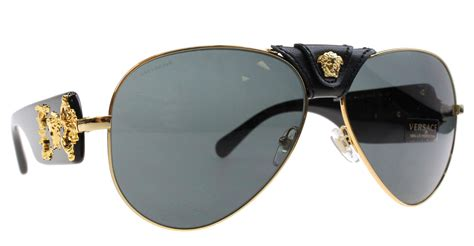 new versace sunglasses aviator ve 2150q black 1002 87