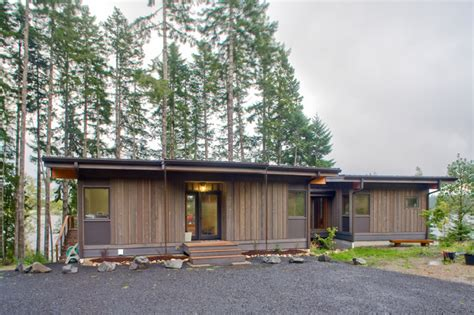 Method Homes Cabin by Spencer Lake Cabin Modern Exterior Seattle By