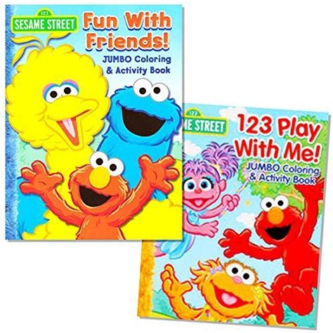 elmo coloring book sesame coloring book set 2 books elmo and cookie
