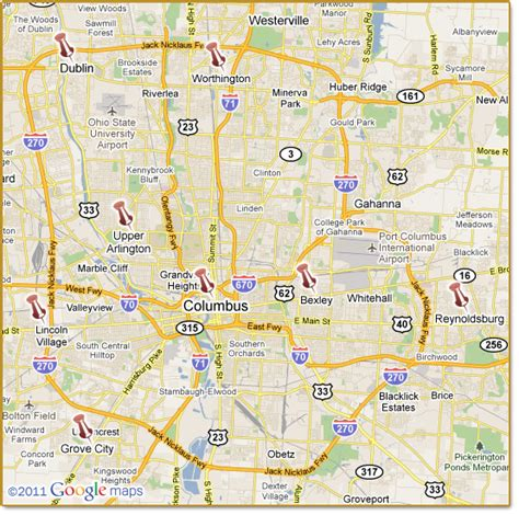 map of and surrounding cities columbus and surrounding cities ohio ss disability