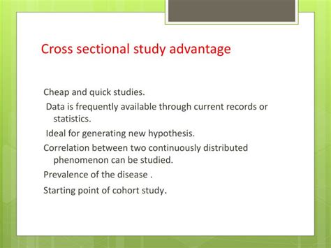 weakness of cross sectional study ppt cross sectional study powerpoint presentation id