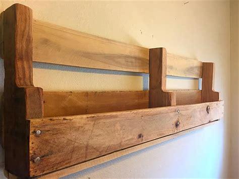 Barnwood Bookcase Diy Pallet Wall Decorative Shelf Pallet Furniture Plans