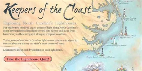 outer banks lighthouses map www pixshark com images galleries with a bite north carolina lighthouse map quiz our state magazine