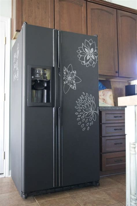 best 25 refrigerator ideas on best 25 chalkboard paint refrigerator ideas on