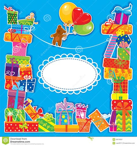 birthday card from baby template baby birthday card for boy stock vector illustration of