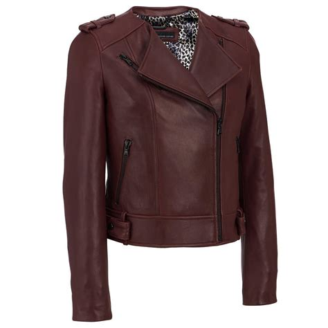 leather cycle jacket wilsons leather womens asymmetric collarless leather cycle