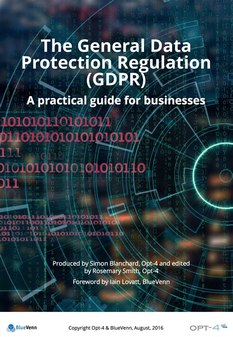 General Data Protection Regulation A Practical Guide For