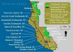 coast ca map