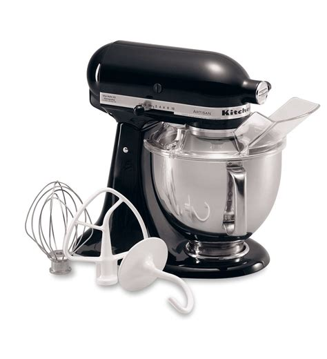 kitchenaid mixer black artisan 174 series 5 quart tilt head stand mixer ksm150psob onyx black