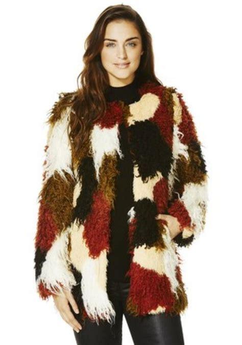 Patchwork Faux Fur Coat - faux fur patchwork jacket endource