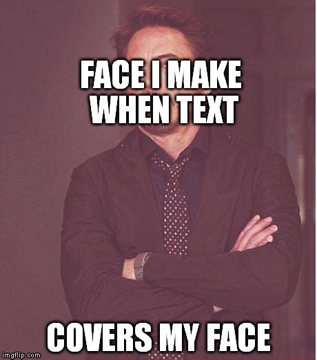 How To Make Meme Text - face you make robert downey jr meme imgflip