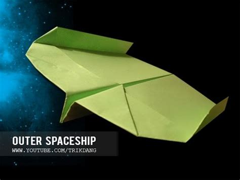 How To Make A Paper Spaceship That Flies - boomerang paper airplane how to make a paper airplane