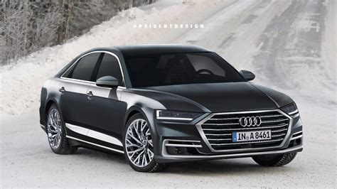 the new audi a8 2018 2018 audi a8 rendering previews a sharp looking luxury sedan