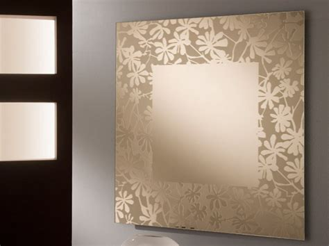 Floral Pattern Wall Mirror | wall mirror decor inspiration 25 cool ideas of creative