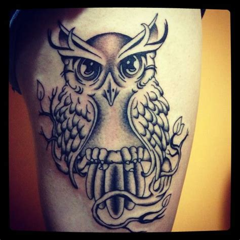 owl tattoo thigh 74 awesome thigh tattoos design mens craze