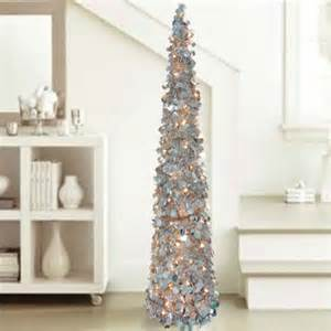 indoor tinsel christmas trees 5 lighted silver christmas