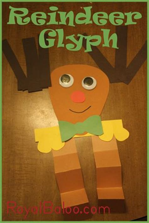 printable reindeer glyph crafts reindeer and kids diy on pinterest