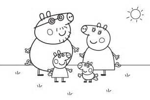 dibujos colorear peppa pig