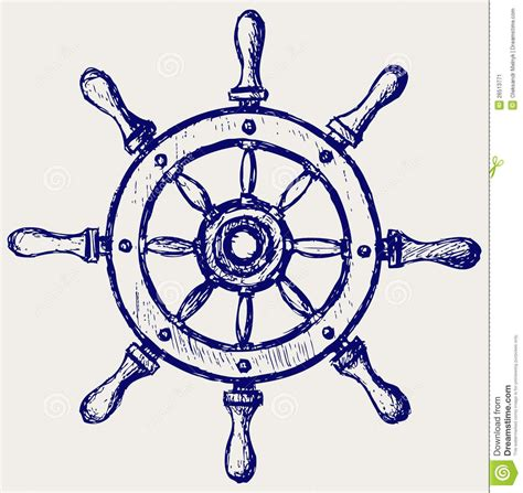 ship wheel tattoo design wheel marine wooden stock image image 26513771