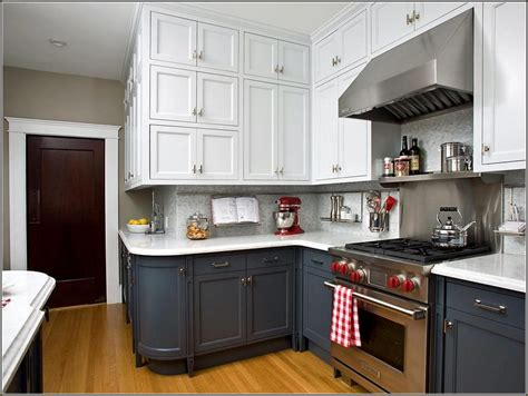 upper kitchen cabinets black lower and white upper kitchen cabinets home design