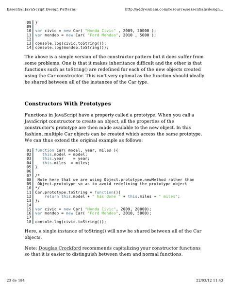 javascript pattern script essential java script design patterns