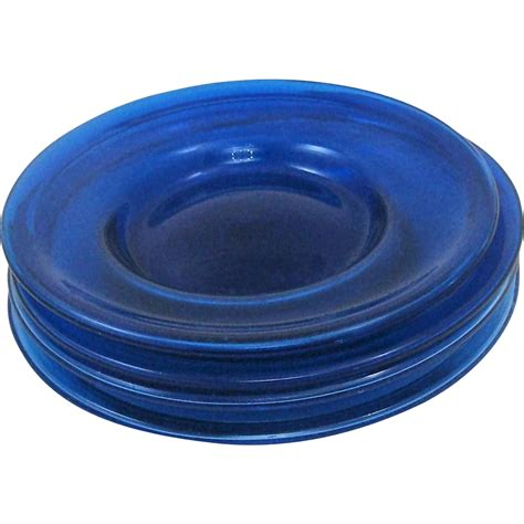 art plates hand blown art glass cobalt plates with bubbles from