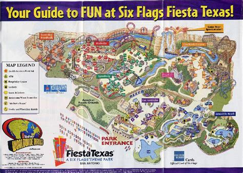 six flags texas map los festivales texas a six flags theme park