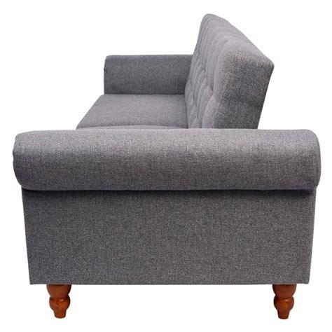 divani di stoffa vidaxl divano letto in stoffa colore grigio vidaxl it