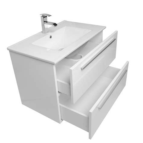 white wall mounted bathroom buy nola 30 inch wall mount modern bathroom vanity gloss