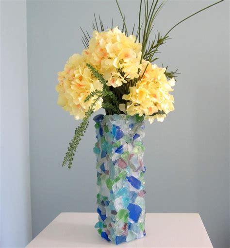 Sea Glass Vase by Nautical Decor Glass Vase Watercolor Sea