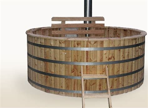 wooden barrel bathtub wood fired hot tub 2 4 meter siberian larch internal