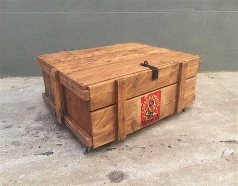 table caisse en bois table basse caisse en bois negrita