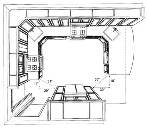 Standard Kitchen Layout by Ideas About Kitchen Dimensions Engineering Feed