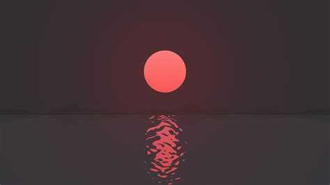 wallpaper sunset reflections seascape  minimal