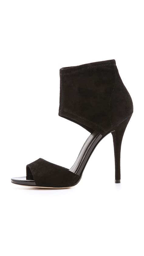 b brian atwood correns ankle cuff sandals black in black