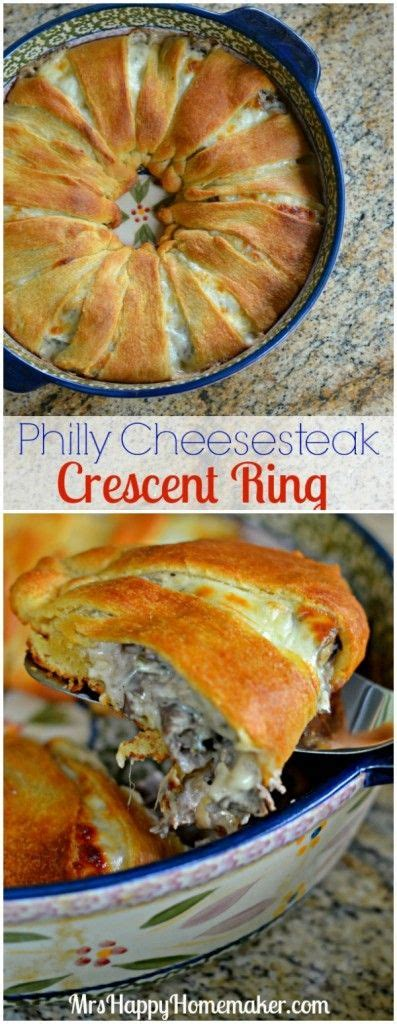 Phancy Philly Cheesesteak Turnovers by Best 25 Crescent Ring Ideas On Sandwich Ring