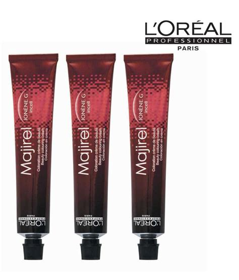 loreal coloring discount l oreal professionnel majirel permanent creme color ionene g incell l oreal majirel no 8 3 permanent hair color golden light 50 ml pack of 3 buy l oreal