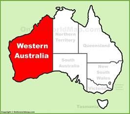 map western australia western australia location on the australia map