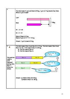 Singapore Math Word Problem Grade 2 3 Mass By Yoon Tpt