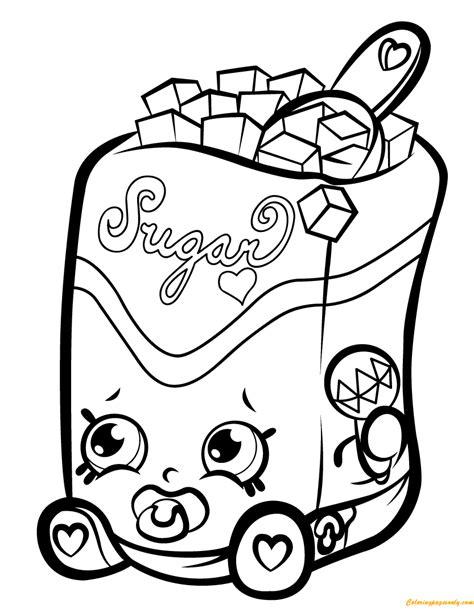 Simple Squishy Black Paw sugar lump shopkin season 1 coloring page free coloring