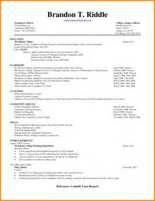 resume to get into college sles of resumes