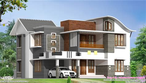 modern villa house plans 2200 sq beautiful modern villa kerala home design