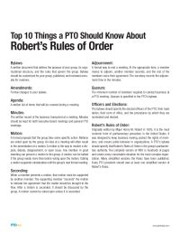 Pto Today Robert S Rules For Leaders Top 10 Pto Today Robert S Of Order Bylaws Template