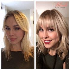 side swept bangs before after bangs on pinterest blunt bangs rose byrne and rachel